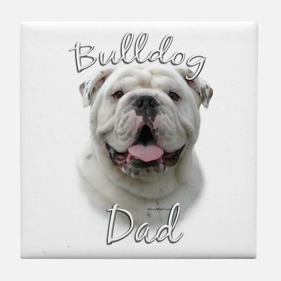 Bulldog Dad2 Tile Coaster