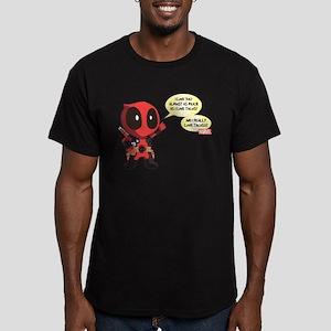Deadpool Love Tacos Men's Fitted T-Shirt (dark)