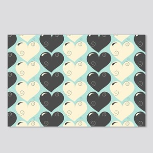 Hearts Pattern Postcards (Package of 8)