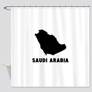 Saudi Arabia Silhouette Shower Curtain