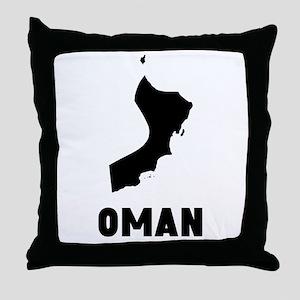 Oman Silhouette Throw Pillow