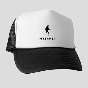 Myanmar Silhouette Trucker Hat