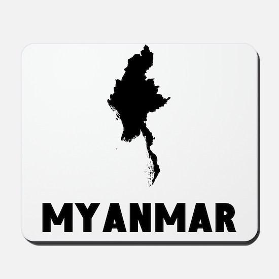 Myanmar Silhouette Mousepad