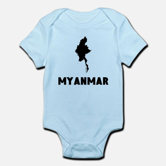 Myanmar Silhouette Body Suit