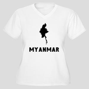 Myanmar Silhouette Plus Size T-Shirt