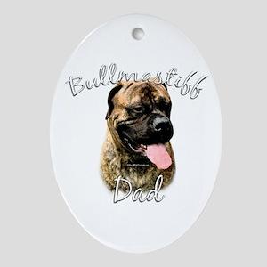Bullmastiff Dad2 Oval Ornament
