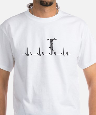 Bike Heartbeat White T-Shirt
