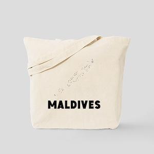 Maldives Silhouette Tote Bag