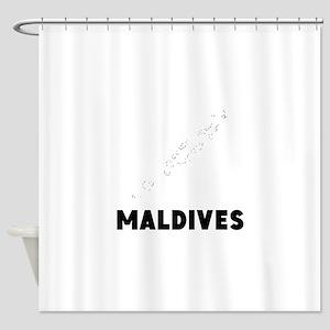Maldives Silhouette Shower Curtain