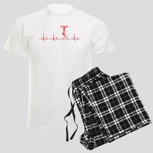 Bike Heartbeat Men's Light Pajamas