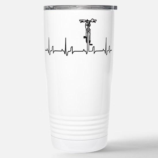 Bike Heartbeat Stainless Steel Travel Mug