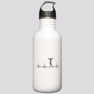 Bike Heartbeat Stainless Water Bottle 1.0L