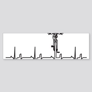 Bike Heartbeat Sticker (Bumper)