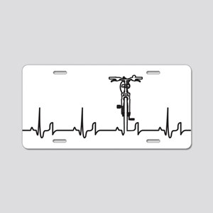 Bike Heartbeat Aluminum License Plate