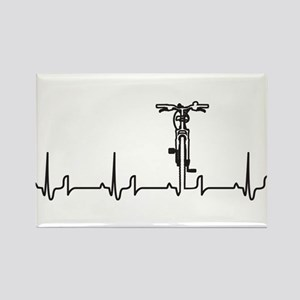 Bike Heartbeat Rectangle Magnet