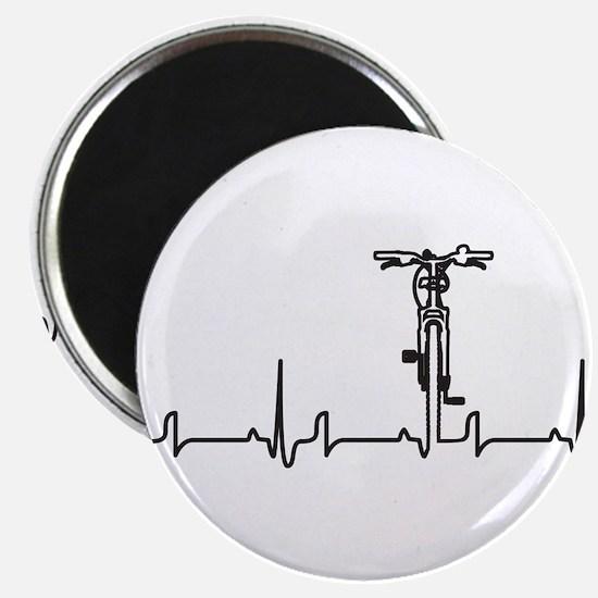 "Bike Heartbeat 2.25"" Magnet (10 pack)"