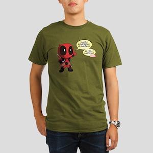 Deadpool Love Tacos Organic Men's T-Shirt (dark)