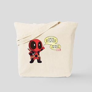 Deadpool Love Tacos Tote Bag
