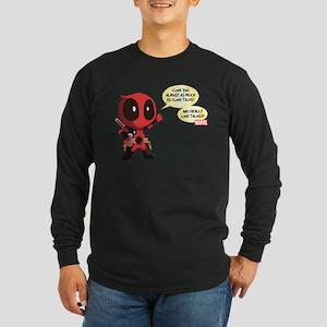 Deadpool Love Tacos Long Sleeve Dark T-Shirt