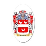 Oakman 20x12 Oval Wall Decal