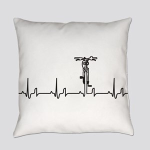 Bike Heartbeat Everyday Pillow