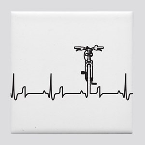 Bike Heartbeat Tile Coaster