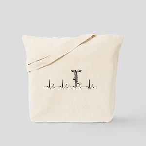 Bike Heartbeat Tote Bag