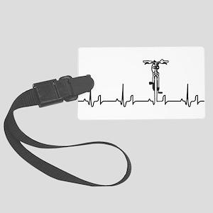 Bike Heartbeat Large Luggage Tag