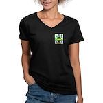 Oaker Women's V-Neck Dark T-Shirt