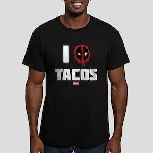 Deadpool Tacos Men's Fitted T-Shirt (dark)