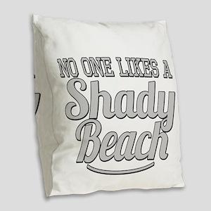 Shady Beach Burlap Throw Pillow