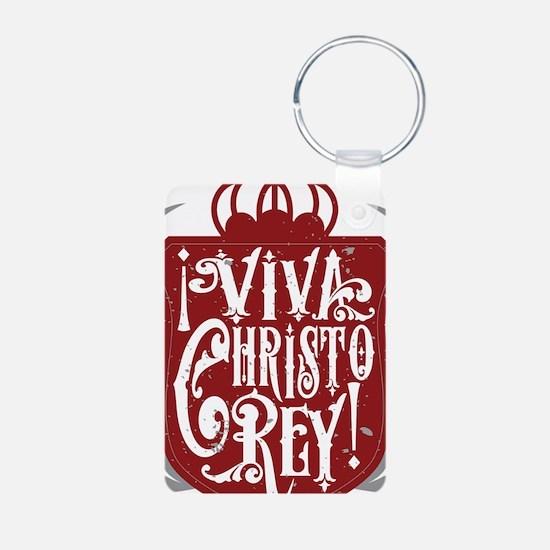 Viva Cristo Rey Shield Keychains
