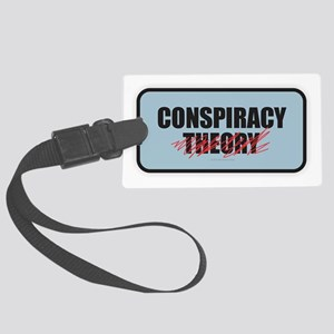 Conspiracy Theory Large Luggage Tag