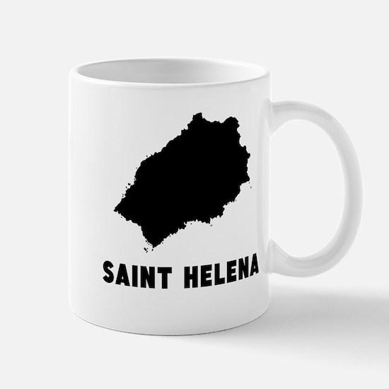 Saint Helena Silhouette Mugs