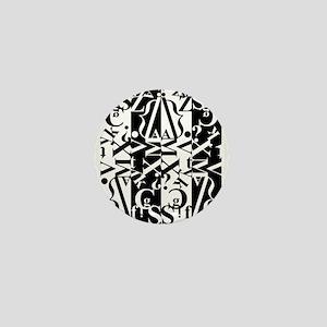black and white Mini Button