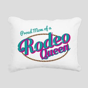 Proud Mom of a Rodeo Que Rectangular Canvas Pillow