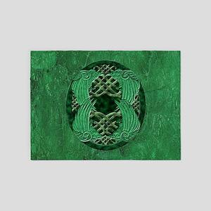 Celtic Crows 5'x7'Area Rug