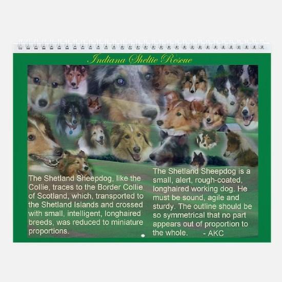 Indiana Sheltie Rescue Wall Calendar