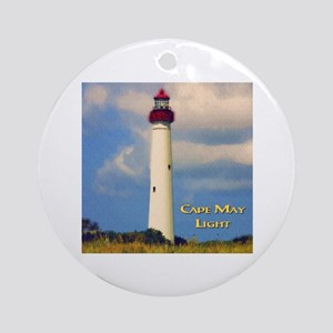 Cape May Light Watercolor Round Ornament