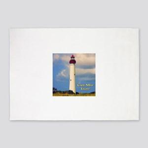 Cape May Light Watercolor 5'x7'Area Rug