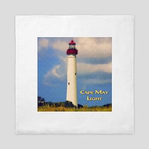 Cape May Light Watercolor Queen Duvet