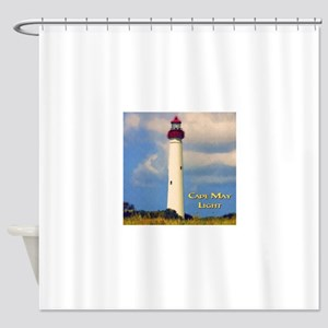 Cape May Light Watercolor Shower Curtain