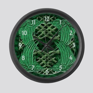 Celtic Crows Large Wall Clock