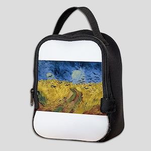 Vincent van Gogh - Wheatfield w Neoprene Lunch Bag