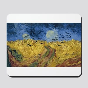 Vincent van Gogh - Wheatfield with Crows Mousepad