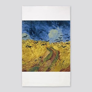 Vincent van Gogh - Wheatfield with Crows Area Rug