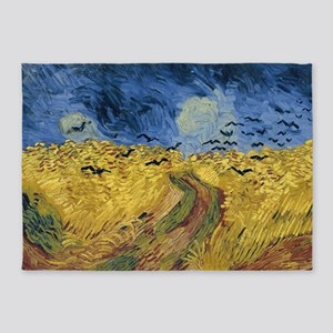 Vincent van Gogh - Wheatfield with 5'x7'Area Rug