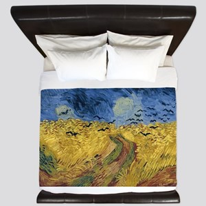 Vincent van Gogh - Wheatfield with Crow King Duvet