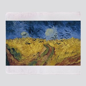 Vincent van Gogh - Wheatfield with C Throw Blanket