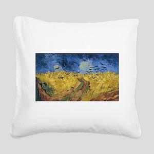 Vincent van Gogh - Wheatfield Square Canvas Pillow